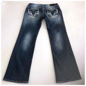 EUC Vigoss Jeans Chelsea Bootcut Dark Wash Size 32